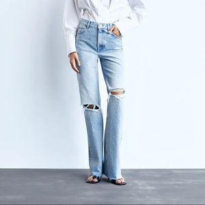 NWT Zara Hi Rise Wide Leg Jeans